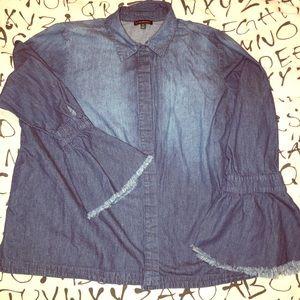 Hot jean fancy sleeved blouse!